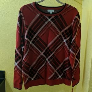 Charter Club size extra large plaid sweater